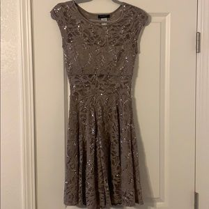 Women's sparkly lace formal dress